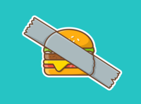 taped burger