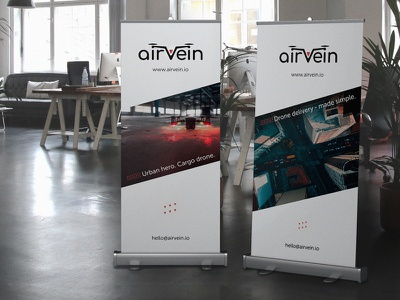 Roll Up Design logotype conference print rollup advertising office drone poligraphy design roll up