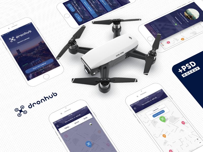 Dronhub Mobile Application by Vitaliy Kolomiets for ServoCode on