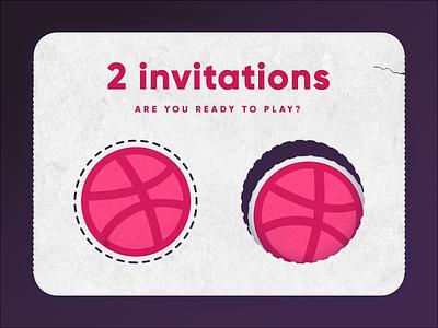 2 Dribbble invitions winner dribble invitations invite invites