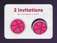 2 Dribbble invitions