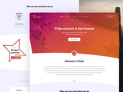 CN / Web site design graphic site website inspiration wireframe ux ui web flat design