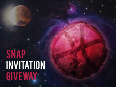 2 Dribbble Invites space dribbble give giveaway invitation invites illustration invite invite invitation
