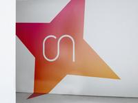 Office branding company careers gradiente glass sticker stickers poligraphy print office branding