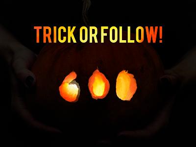 TRICK OR FOLLOW! congratulation followers celebrate dribbble 600 follow trick halloween