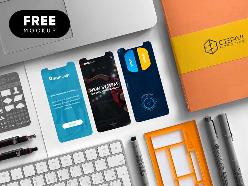 Free APP Mockup iphone x screen logo mockup photoshop psd logo design application app free mockup
