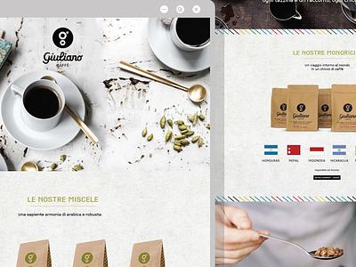 Giuliano Caffè - Landing Page turin coffee