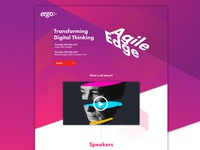 Ergo Agile Event - Landing Page