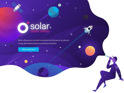 Sòlar Design System solar system space explore illustration ui