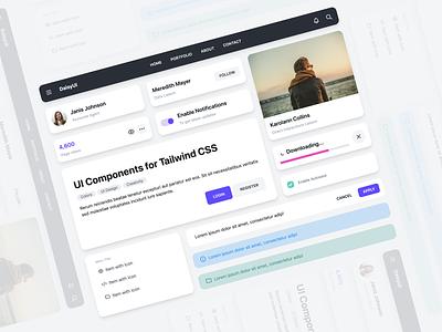 DaisyUI / Light theme - UI Component for Tailwind CSS daisyui ui component ui library tailwindcss design system webdesign ui design
