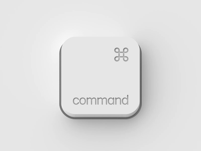 Button white key keyboard command animation button