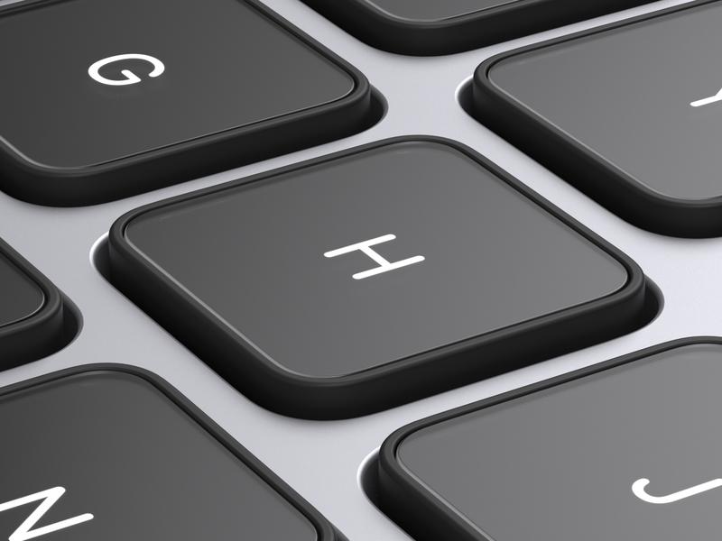 Glass Keys macbook product hardware arnold cinema4d key glass keyboard render