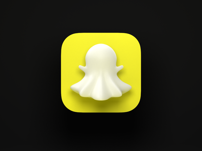 Snapchat 3D yellow white ghost app app icon neumorphism cinema4d c4d render 3d icon snapchat