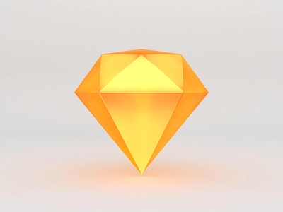 3D Sketch Icon cinema 4d app icon logo 3d render icon sketch