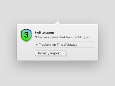 Privacy Report Popover privacy report ui macos popover