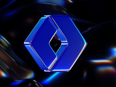 WorkOS gradient chromatic holographic render logo workos