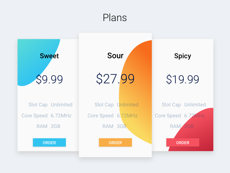 Plans view for Epic uiux pricing plans