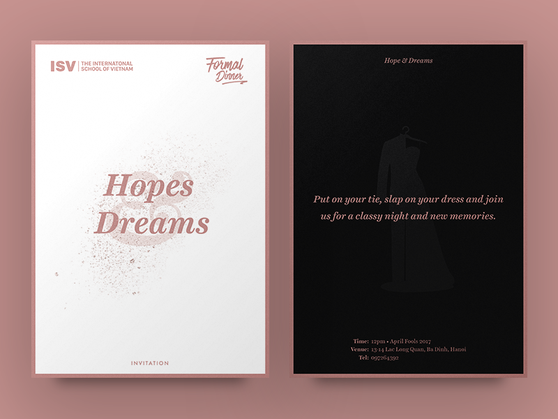 Formal Dinner Invitation Card By Anh Nguyen On Dribbble