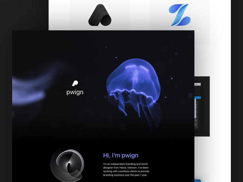 pwign's new branding identity brand blue purple jellyfish branding