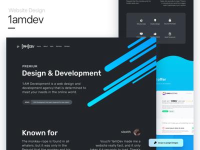 1amdev's website design mockup