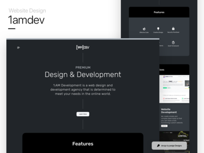 1amdev's website design mockup