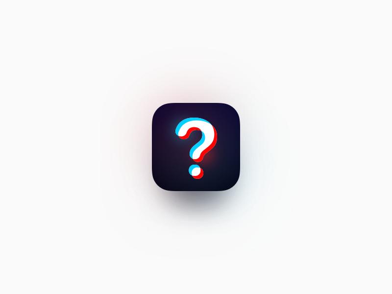 Question App Icon Exploration question app icon gradient