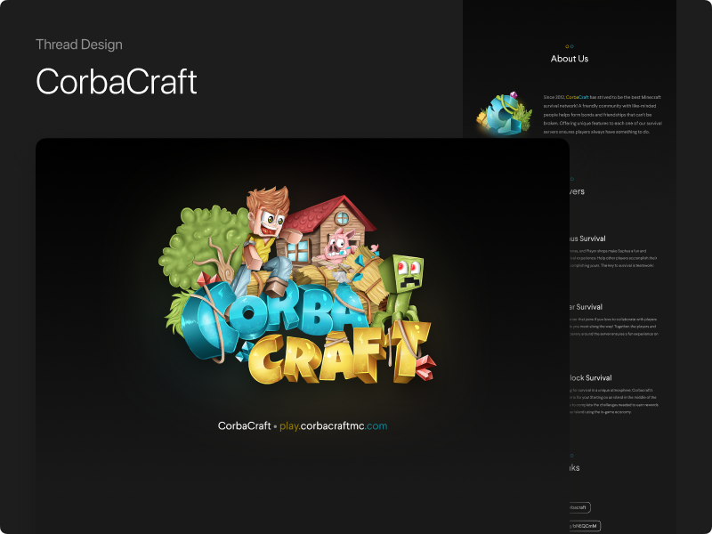 CorbaCraft's Thread Design advertisement minecraft thread design