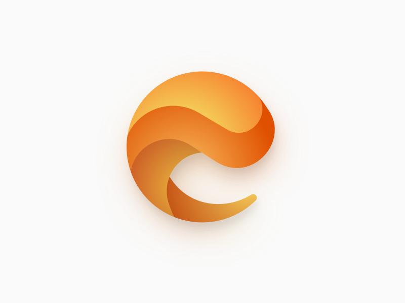 E Branding Logo lettermark illustration branding icon logo gradient