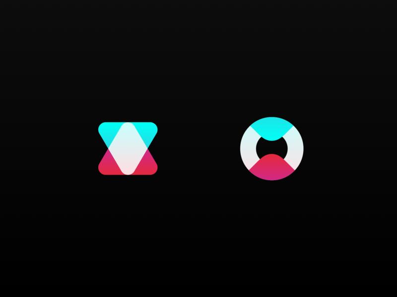 Icon Exploration aid symbol branding icon logo gradient