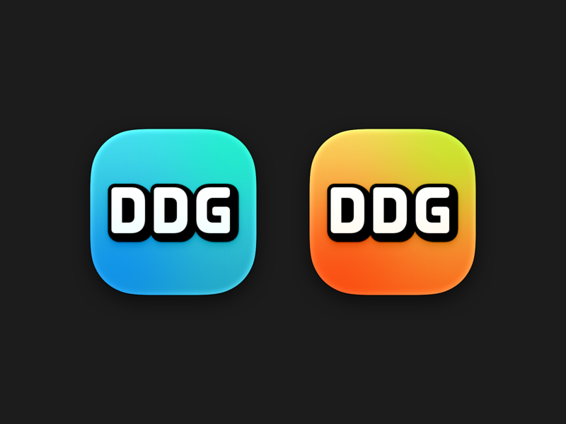 DDG Icon orange cyan playful icon logo branding gradient g d ddg