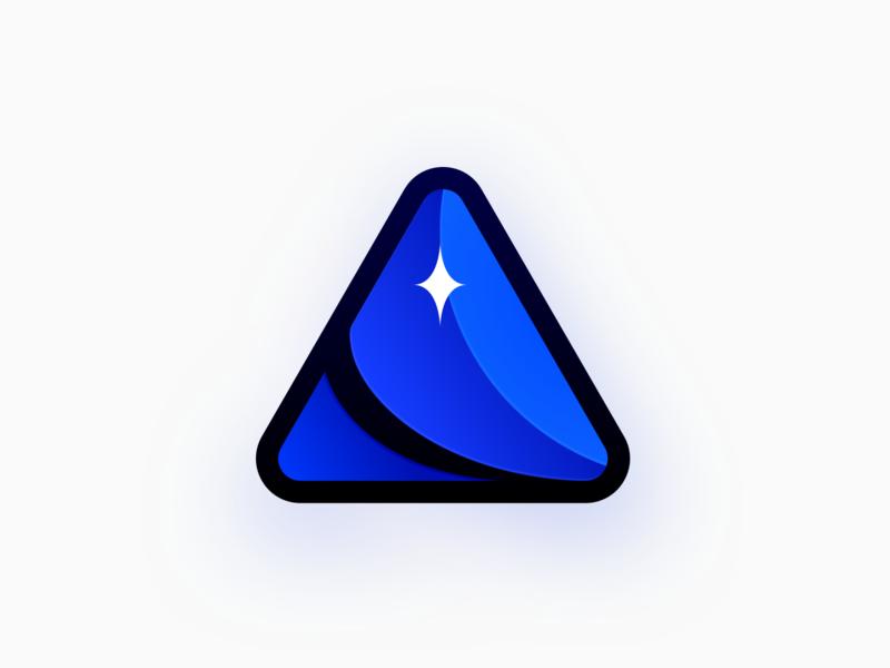 SpaceMine Icon icon gradient logo branding spacemine mine space