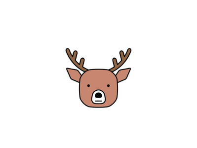 Reindeer CC cute animals icons design icon sketch logo branding illustration hand-drawn vector