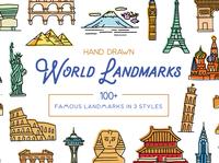 Hand Drawn World Landmarks