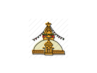 Boudhanath Stupa, Kathmandu, Nepal landmarks icons design icon sketch logo branding illustration hand-drawn vector
