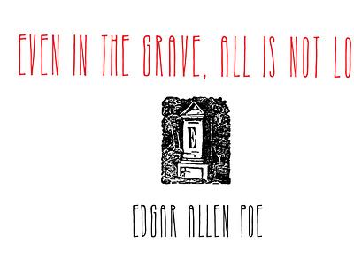Edgar Allen Poe font typography design sketch hand-drawn vector