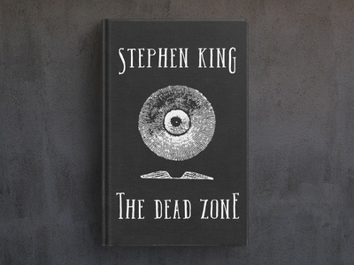 The Dead Zone book cover serif font typography design branding logo hand-drawn