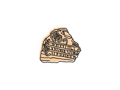 Jelling Runestones, Denmark collection historic denmark landmarks icons design icon sketch illustration hand-drawn vector