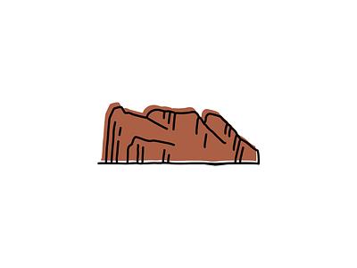 Rock of Gibraltar landmarks icons design icon branding sketch logo illustration hand-drawn vector