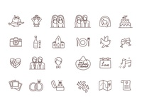 FREE 24 Wedding Icons Set from Temploola