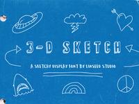 FREE 3-D Sketch Font