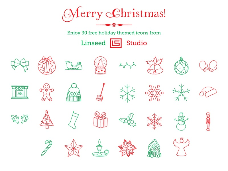 Xmas Freebie Preview freebie free holiday christmas xmas icon design illustration branding vector sketch hand-drawn icons