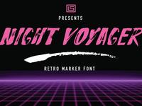 Night Voyager Retro Font_1