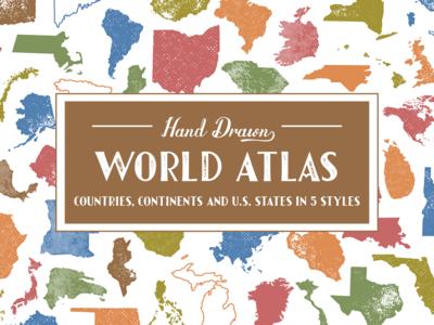 Hand-Drawn World Atlas