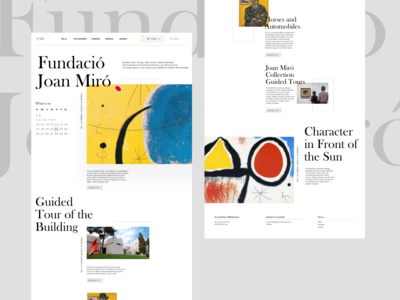 Joan Miro foundation - Home page redesign