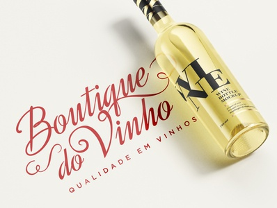 LOGOTIPO ♡ Boutique do Vinho art brandingdesign logotype artist brasil brazil desinger estampadonna logodesign logo