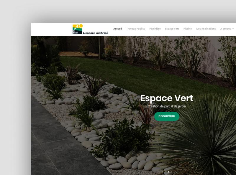 Espace tité - Website design green area website concept web design web design website brand ui ux