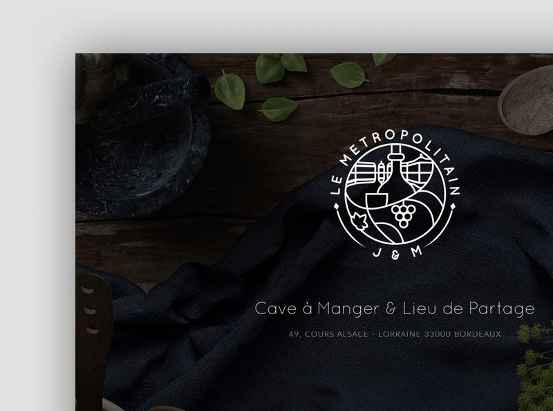 Le Métropolitain Bordeaux - Logotype, Branding wine food website branding brand design logotype logo
