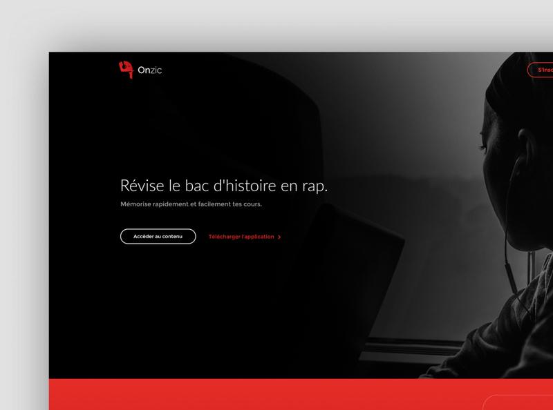 Onzic Music - Branding Website design website application design webdesign application presentation branding design app ui ux
