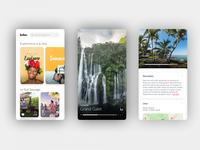 Brbn. Travel Guide - Application Mobile branding reunion island adobe xd guide travel presentation mobile design app ui ux
