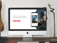 Brbn. Travel Guide - Landing page